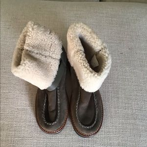 Coach Moto Shearling Flat Ankle Boot
